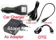 EU Plug Wall Charger Adapter 5V 2A + DC Car Charger USB Port + Data Cable for Pipo S3 S3 M1 Q88 Max M5 M7 M9 pro 3g