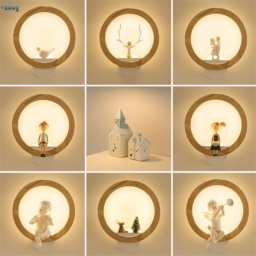 HGHomeart LED Wall Indoor Lamps E27 Retro Sconce Iron Bed Loft ...