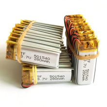 wholesale 50 pcs 3.7V 280mAh Lithium Polymer Li-Po Rechargeable Battery For Handheld GPS Navigator Mp3 MP4 MP5 bluetooth 501540(China)