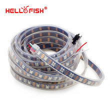 Hello Fish 5m WS2812B Pixels LED Strip IP67 Waterproof, 60 Pixels/m Dream Color LED Tape, Free Shipping