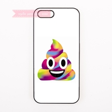 tough cover case for iphone 4 4s 5 5s 5c se 6 6S 7 Plus iPod Touch cases emoji expression of shit smile colorful funny cute face