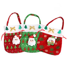 Hot Sales Christmas Candy Bag Santa Claus Home Decoration Party Gift Red Bags Christmas Supplies  23*20cm EJ875152