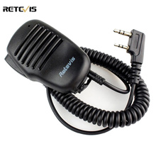 2 Pin PTT Speaker Mic For KENWOOD BAOFENG UV-5R RETEVIS H777 RT5R RT3 RT5 RT80 PUXING TYT Ham Radio Walkie Talkie C9021(China)