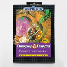 Dungeons & Dragons Warriors of the Eternal Sun 16 bit MD Game Card With Retail Box For Sega Mega Drive For Genesis