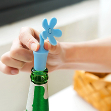 Good Wine Bottle Stopper Silicone Flowers Bar Tools Preservation Wine Stoppers Kitchen Wine Champagne Stopper Beverage Closures(China)