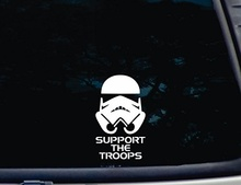 "Car Styling 3 2"" X 6"" Die Cut Vinyl Decal for Windows, Cars, Trucks, Tool Boxes, Laptops,Star Wars Stickers Support The Troops"