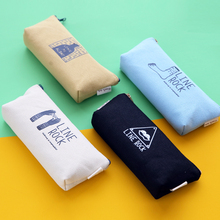 2016 pen box pouch bag bags school canvas  pencil case vintage stationery printing large South Korea cute cheap art stationery