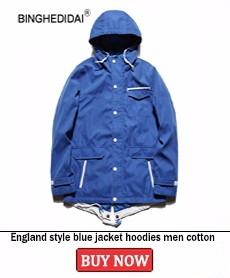 England style blue jacket hoodies men cotton jacket fashion hiphop hooded casual hoodies men multiple pocket loose fashion coat