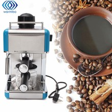220V Automatic Coffee Machine Steam Type Espresso Cappuccino Latte Maker 5 Bar Mini Stainless Steel Coffee Maker(China)