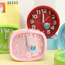Simple life Colourful Mini Alarm clock Ultra-quiet Small volume Fashion Personality digital clock