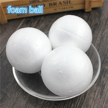 10 pcs 8cm Polystyrene Styrofoam Foam Ball White Craft Balls For DIY Christmas Party Decoration Supplies Gifts(China)
