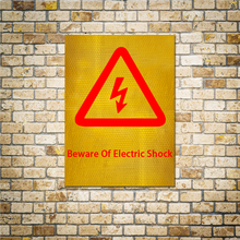 New Arrival Modern Beware Of Electric Shock Reflective Stickers Signs Poster Wall Decor Warning 15x20CM Ideal Gift Sticker Shop