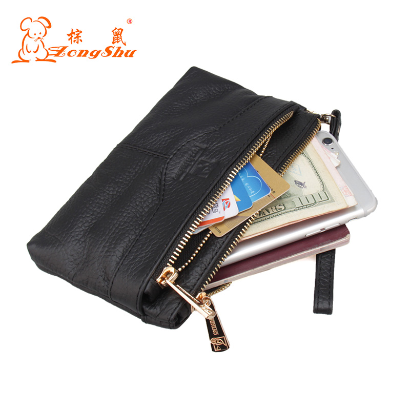 New Arrival Men Wallets Long Genuine Leather Brand Big Capacity Purse First Layer Cowhide Man Day Clutches Bag<br>