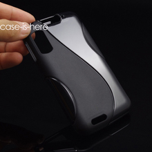 CASEISHERE Soft S-Line Wave Anti-skid TPU Gel Cover Case Skin for Motorola Atrix 4G MB860