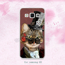 Cat in top hat animal hard plastic cases for samsung A3 A5 A7 A8 A9 J1 J3 J5 J7 2015 2016 s6 s6edge plus s7 edge s8plus note5