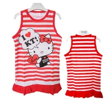 Baby Girl Dress Kitty Cat Dress Minnie Mouse Princess Dresses Summer Dress Vestido Robe Fille Enfant 6M-5Y