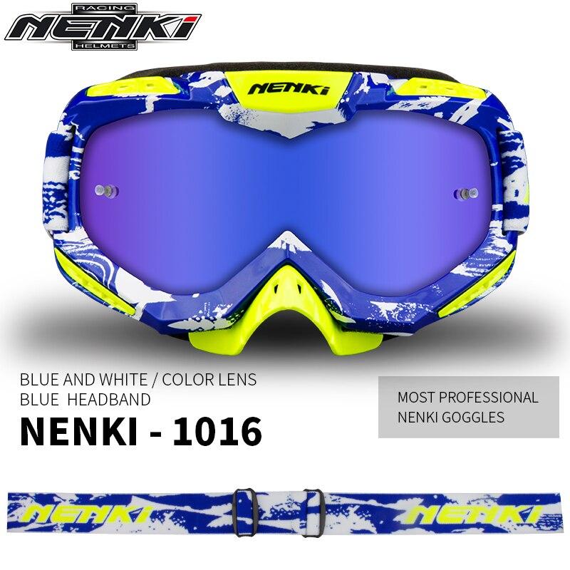 Enduro MX Goggles Motocross MTB Off-Road Riding ATV Bike Eyewear Blue+Red+White