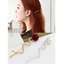 t190 South Korean side folder hairpin Korean hit small clip pearl clip shilly wavy hair ornaments