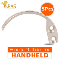 5Pcs/lot Hook Key Detacher Tag Remover Security Tag Hook Detacher Used For EAS Tags System Portable Handheld One