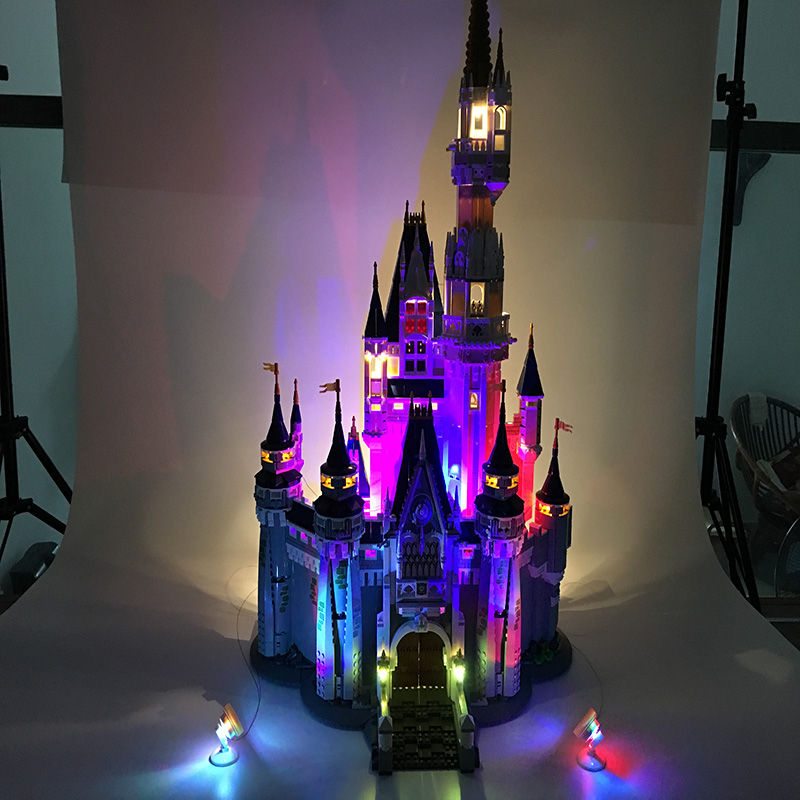 Building Blocks City Street 16008 Cinderella Princess Castle Led Light Set For Legoing 71040 Toys Creator City Street Lighting (6)