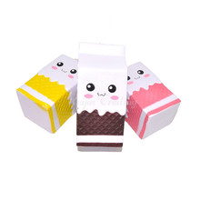 Cute Jumbo  Milk Carton Squishy Phone Straps Slow Rising Phone Straps Pendant Sweet Cream Scented Bread Kids Fun Toy Gift