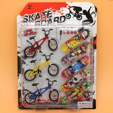 Newest Plastic Bicycle bike Finger Skateboards Toys for Children Sets Novelty Fun Mini Fingerboards funny Gift for Kids (China (Mainland))