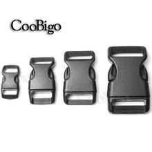 "1pcs 3/8"" 5/8"" 3/4"" 1""Side Release Buckle Curved 550 Paracord Bracelet Dog Collar Backpack Strap Webbing Bag Parts Plastic Black"