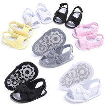 ROMIRUS Solid Summer Bow-knot Baby Boys Girls Soft Soled Shoes Flip Flop Newborn Kids Princess Casual Beach First Walkers 0-18M(China)