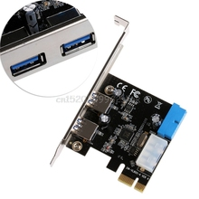 2 Ports PCI Express USB 3.0 Front Panel with Control Card Adapter 4-Pin  & 20 Pin #H029#