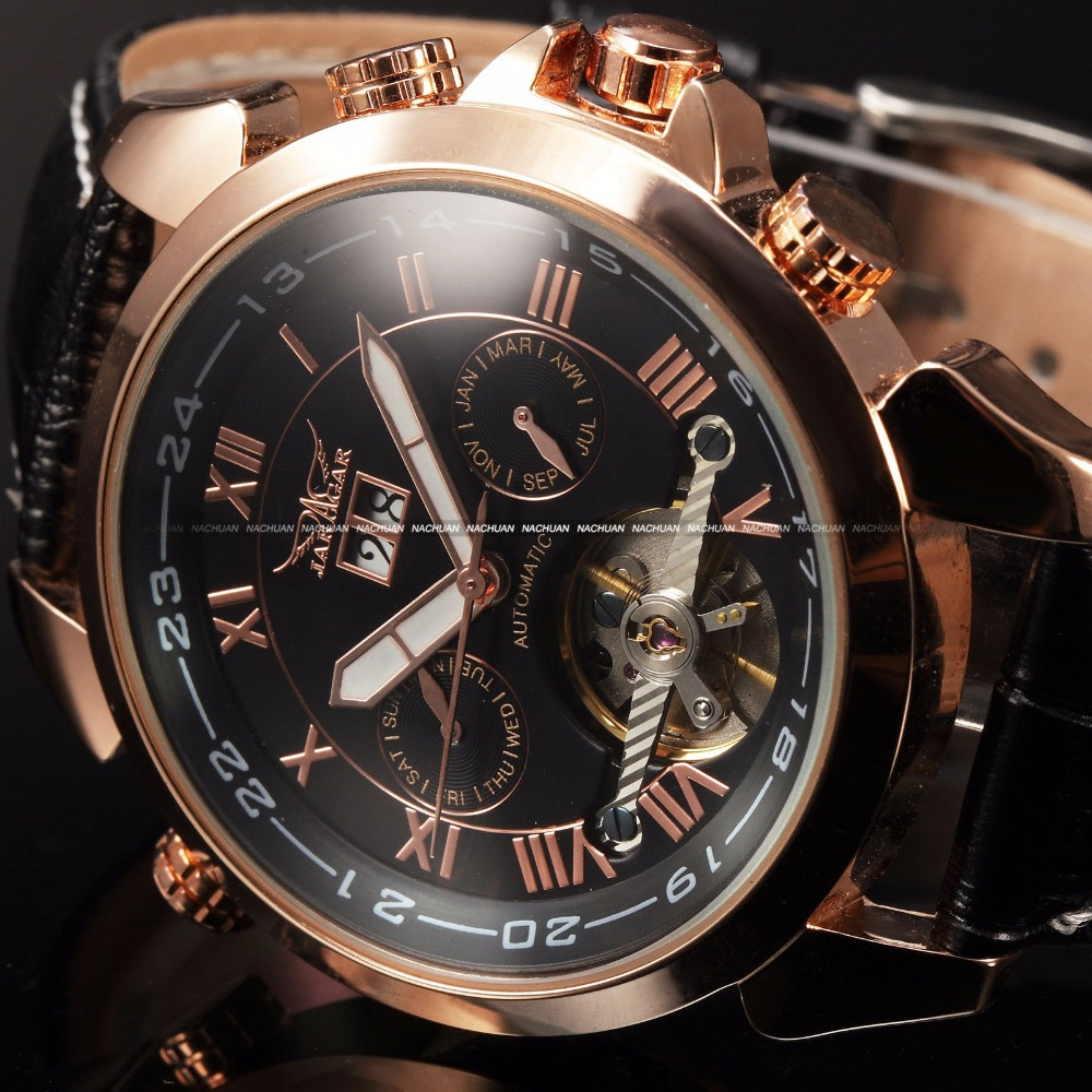 2015 Relojes Hombre Men Fashion Automatic Mechanical Date Colors Dress Leather Wrist Watch luxury Watch Saat Reloj Golden Watch<br>