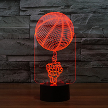 Finger Top Basketball Home Decor Lamp Flash Party Atmosphere Luminarias Touch 7 Color Changeing LED Illusion Nightlight GZ0010