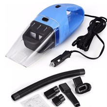 Portable Car Vacuum Cleaner Wet And Dry Dual Use With Power 120W 12V 5 Meters Of Cable Super Absorb Car Waste Free Post(China)