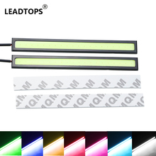 10PCS 14cm Day Running Lights 100% Waterproof Ultra-thin COB Chip LED Drl Daytime Running Light LED DIY DRL Fog Car Lights DA