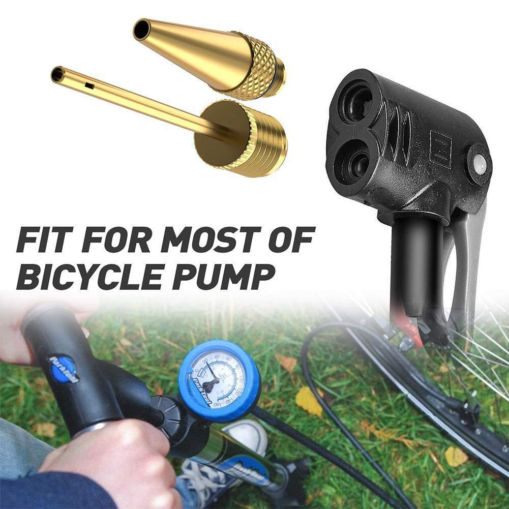 Bike Pump 4Pcs Needle Valve Foot Ball Airbed Bicycle Tyre Adapter Set Tool DAT