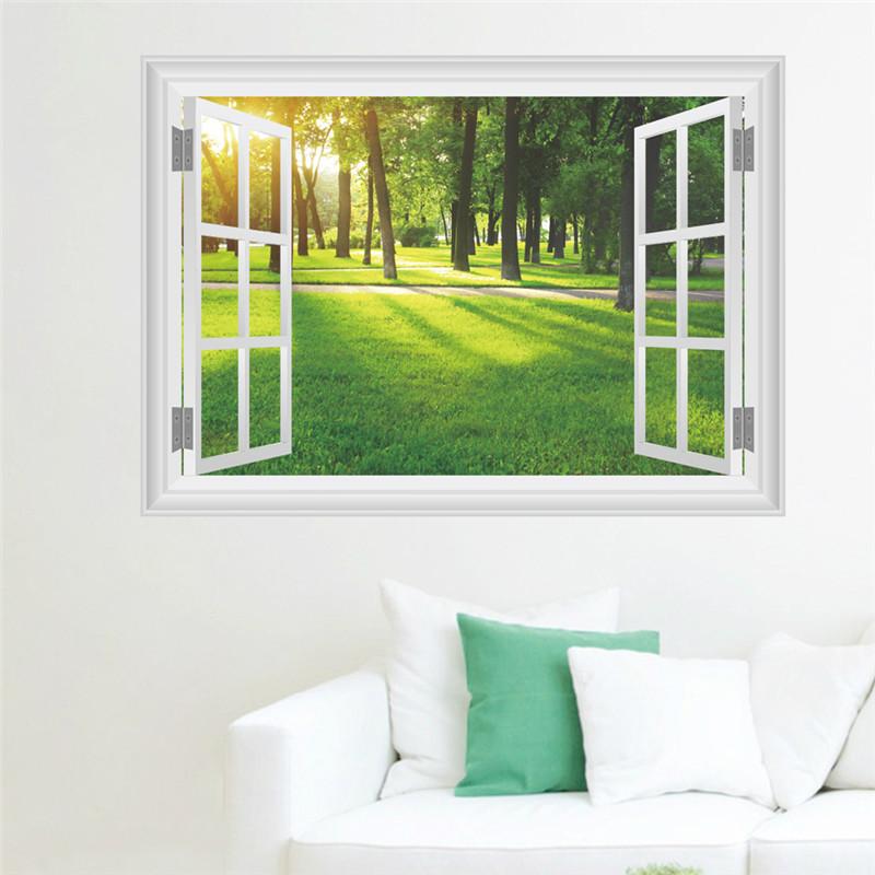 HTB1KiA5RVXXXXcBXFXXq6xXFXXXO - 3D Window Nature Landscape View Wall Sticker-Free Shipping