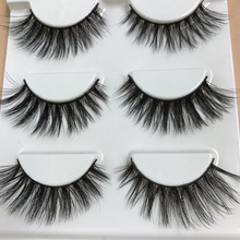 HBZGTLAD 3 pairs natural false eyelashes fake lashes long makeup 3d mink lashes eyelash extension mink eyelashes for beauty(China)