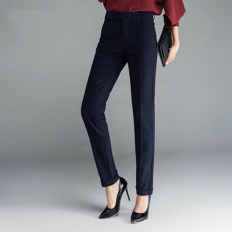 Womens high waisted black dress pants