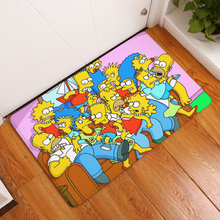 2017 New Cartoon Character Simpson Family Print Carpets Bathroom Mats Anti-Slip Rugs 40X60 50X80cm.(China)