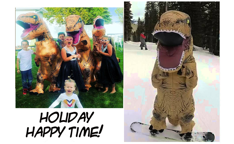 Party Adult t rex Dinosaur Costume Halloween Cosplay Fantasy Inflatable Dinosaur T REX Blowup Halloween Mascot Costume for Women (9)