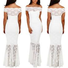 Long Mermaid Trumpet Women Formal Prom Long Maxi Dress Black White Evening  Party Ball Gown Dress Vestido 0da8478eab57
