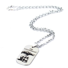 HF The Expendables Death Squads Stallone Necklace Jet Li Skull Dog Tag Pendant Metal Chain Necklace Collar Choker Accessory Gift(China)
