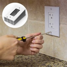 110V Plug Cover LED Sensor Night Light Wall Outlet Face Hallway Kitchen Emergency Safety Coverplate Road instructions Lamp(China)