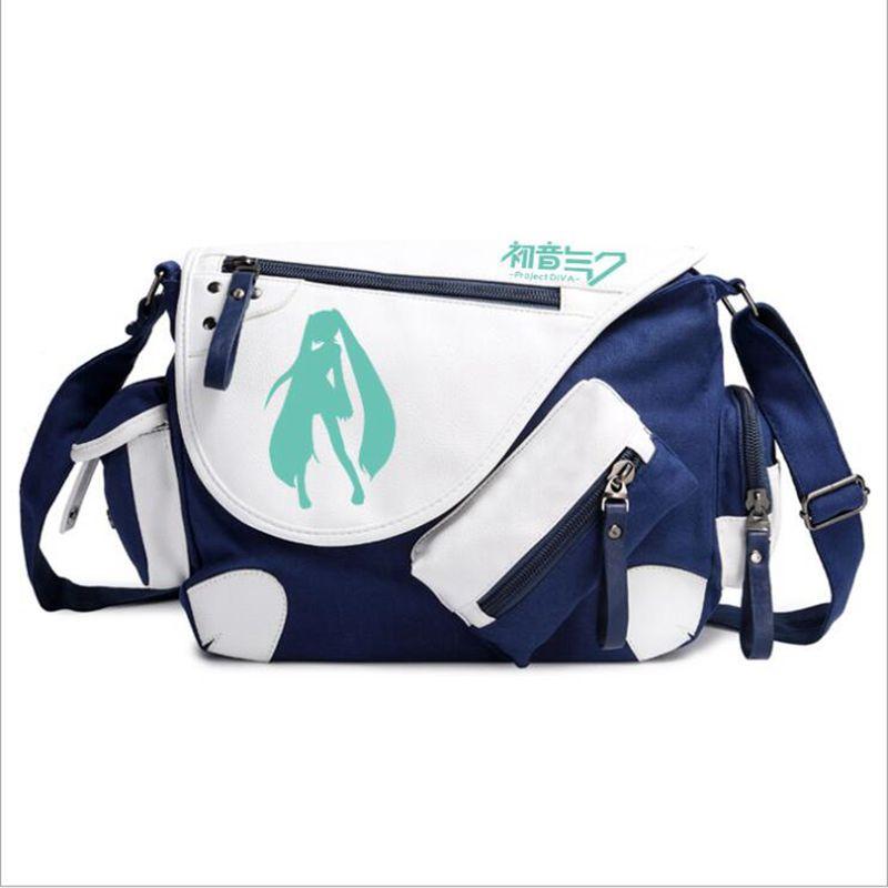 anime Hatsune Miku Messenger Bag for Girls Cartoon Print Japanese Anime Women Messenger Crossbody Bag Shoulder Package Satchel<br>