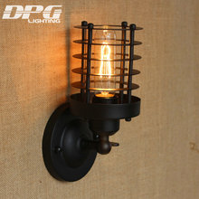 wall light indoor Loft Antique Industrial Sconce Vintage Led Lamp American Classic for Home Bedside Up Down Cheap Lighting(China)