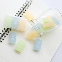 3 pcs/pack Lovely Transparent Jelly Color 4B Drawing Eraser Primary Student Prizes Promotional Gift Stationery