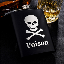 Personalized Alcohol Flasks 6oz 8oz 12ozFashion Skull Design Stainless Steel Mini Hip Flask Camp Outdoor Portable Whiskey Flask(China)