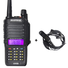 Baofeng BF-UV5S Waterproof Walkie Talkie with Headset Portable Two Way Radio Dual Band UHF VHF Handheld Ham Radio HF Transceiver