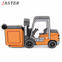JASTER Forklift truck model USB Flash Drive creative pen drive TOYOTA LOGO car memory stick pendrive 4gb 8gb 16gb 32gb gift(China)