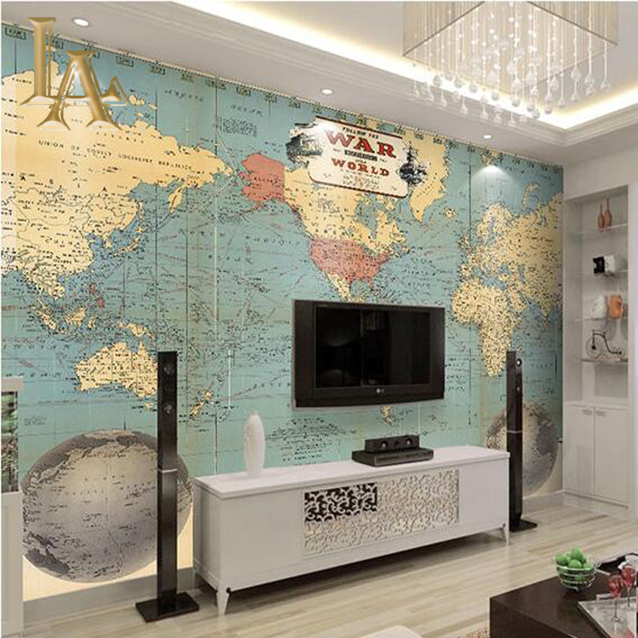 Custom Large Photo Wallpaper For Bedroom Living Room Sofa TV Background Wall Decor World Map Mural Wall paper<br><br>Aliexpress