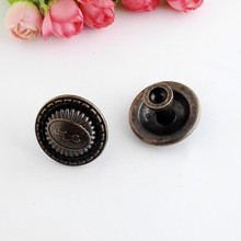 Free Shipping 4PCs Jewelry Wooden Box Pull Handle Dresser Drawer For Cabinet Door Round Antique Bronze 35x23mm J3144
